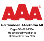 Vi är ett kreditvärdigt företag enligt Bisnodes värderingssystem som baserar sig på en mängd olika beslutsregler. Denna uppgift är alltid aktuell, informationen uppdateras dagligen via Bisnodes databas.
